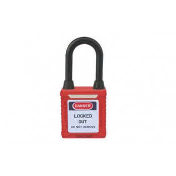 Dustproof Nylon Shackle Safety Padlock HBD-G11DP